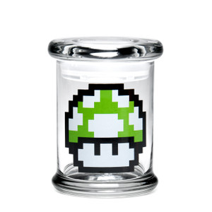 420 Science MD Pop-Top Jar - 1-Up Mushroom