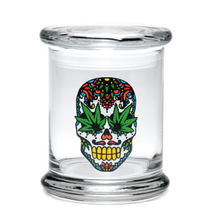 420 Science LG Pop-Top Jar - Skull