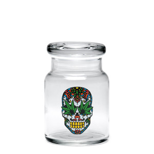420 Science SM Pop-Top Jar - Skull