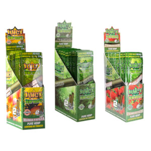 Juicy Natural Hemp Flavored Wraps 2pk - (Display of 25)
