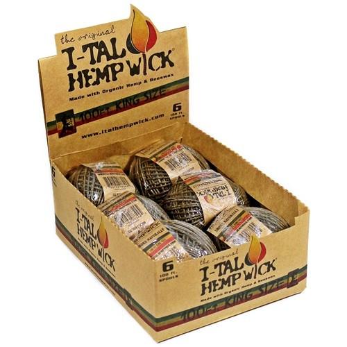 I-TAL 100ft Hemp Wick - King Size Spool - 6/Case