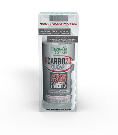 QCarbo20 Clear Detox Strawberry Mango
