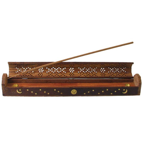 Wild Berry® Incense Burner - Fancy Carved Coffin