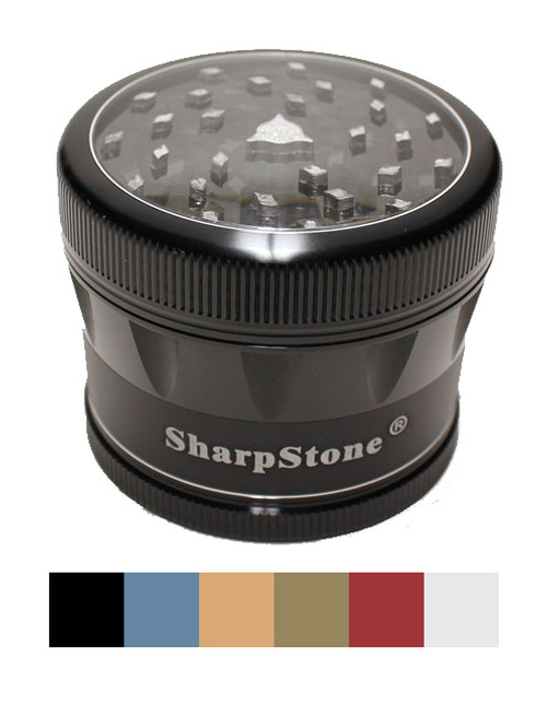 Sharpstone® 4 Piece V2 Clear Top Grinder