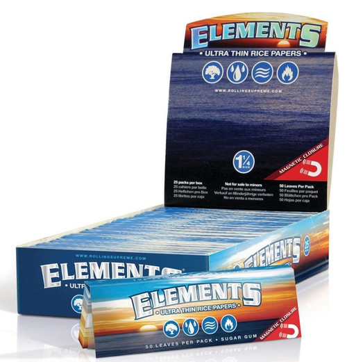 Elements Ultra 1 1/4th Rice Papers - 25/box