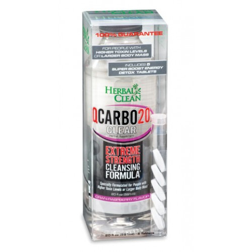 Herbal Clean 20oz Q Carbo - Liquid - Cran-Raspberry