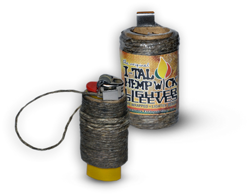 I-TAL Hemp Wick Lighter Sleeves - 24/case