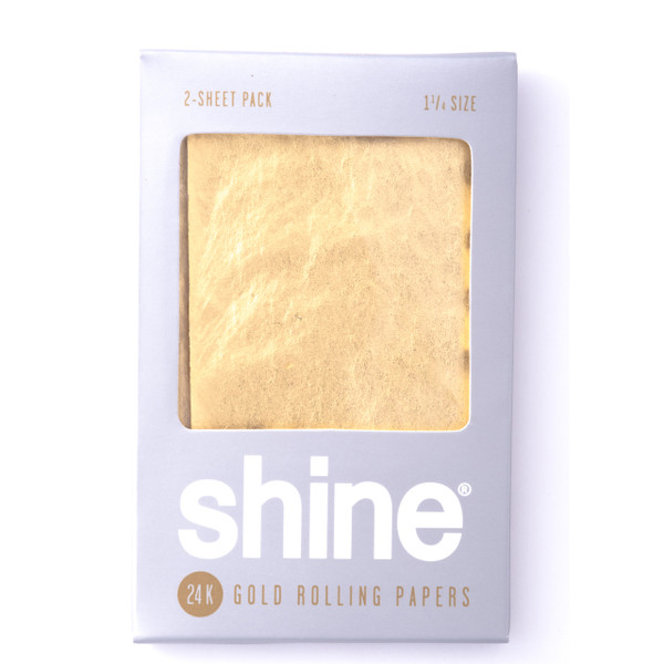 Shine 24k Rolling Papers - 1 pk with 2 sheets