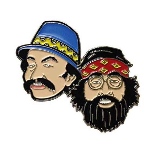 Herbivore Hat Pins - Cheech & Chong Faces
