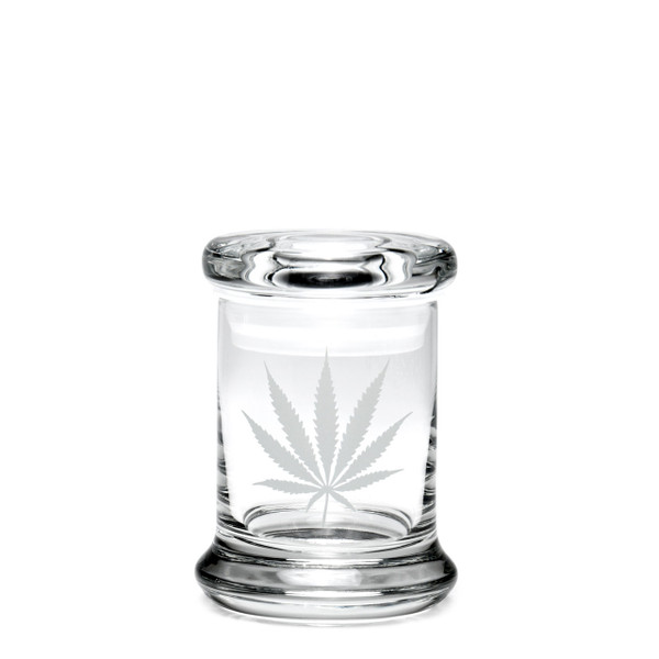 420 Science XS Pop-Top Jar - Silver Leaf