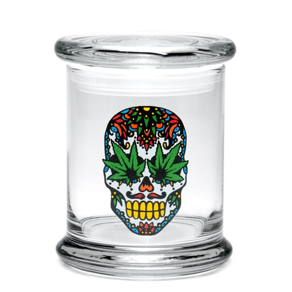 420 Science LG Pop-Top Jar - Skull