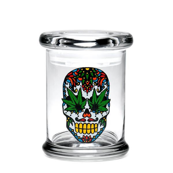 420 Science MD Pop-Top Jar - Skull