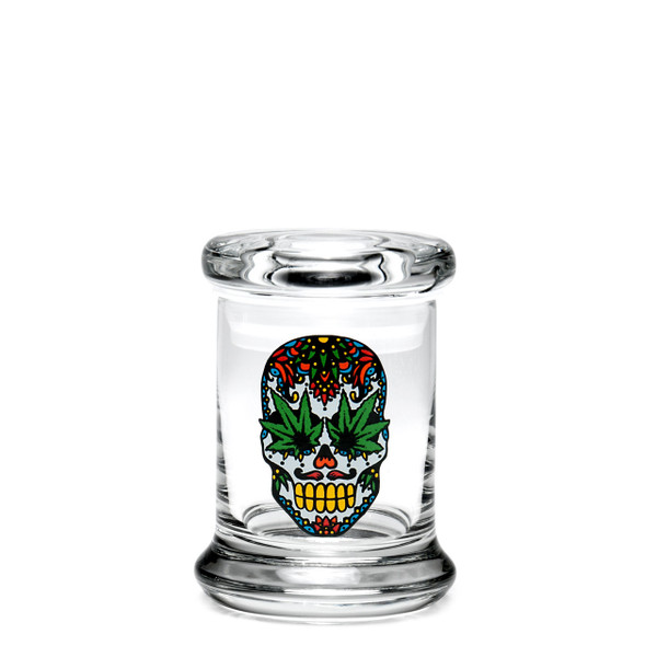420 Science XS Pop-Top Jar - Skull