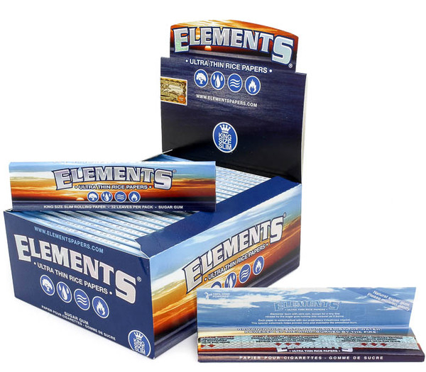 Elements Ultra King Size Rice Papers - 50/box