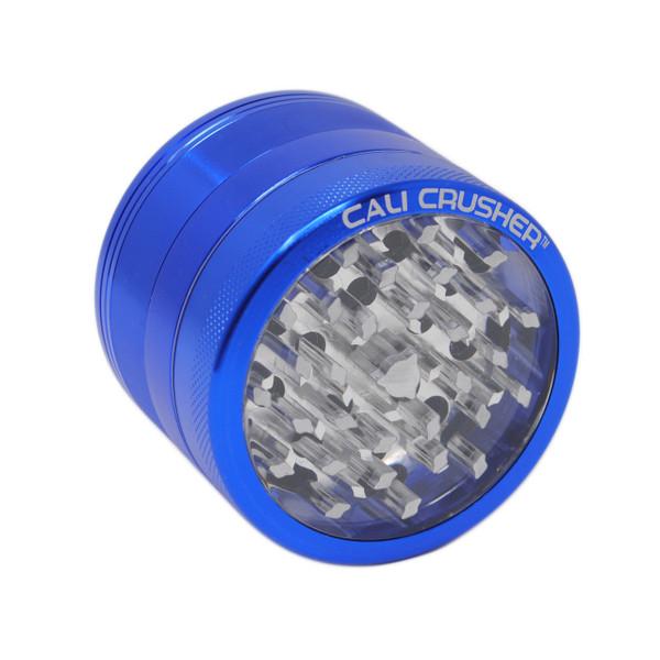 "Cali Crusher OG - 2.5"" 4 Piece Clear Top Grinder - Colors"