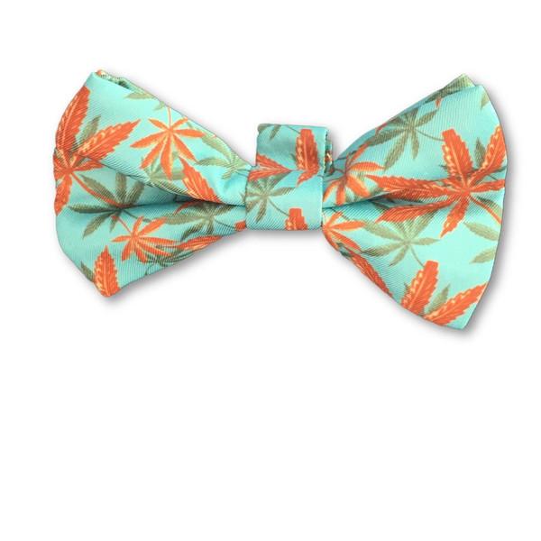 Errly Bird Heady Pet Bow Tie - Caribbean Leaf