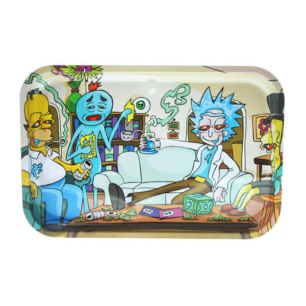 """Dunkees Rolling Tray 13"""" x 9"""" - Impossible Task (Homer & Rick)"""