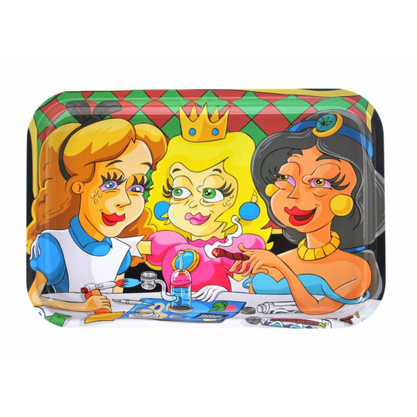 """Dunkees Rolling Tray 13"""" x 9"""" - Ladies Night Out (Alice, Peach, Jazmin)"""