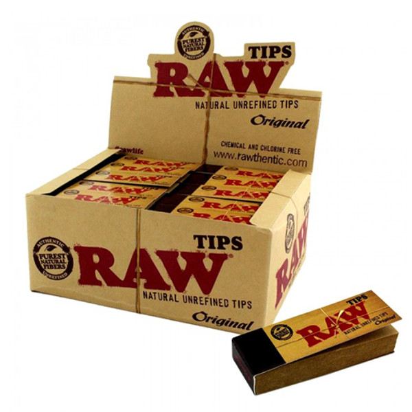 Raw Natural Unrefined Tips (Display of 50)