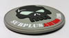 SurplusAmmo.com 3D Skull - PVC Morale Patch Black, White, Gray, Red & Glow PVC Velcro Patch Glow In the Dark