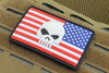 SAA USA Flag 3D Skull morale patch Glow In The Dark Skull Right Sleeve Velcro backed Surplus Ammo