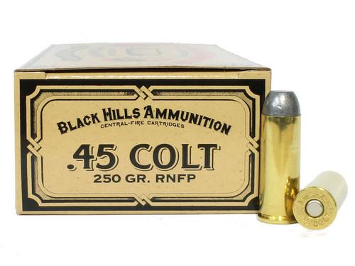Surplus Ammo   Surplusammo.com 45 Long Colt 250 Grain RNFP Black Hills Cowboy Action Ammunition