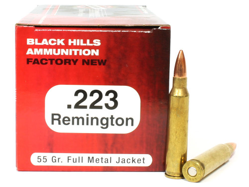 Surplusammo.com | Surplus Ammo .223 55 Grain FMJ Black Hills - 50 Rounds, NEW-Red Box BHD223N1