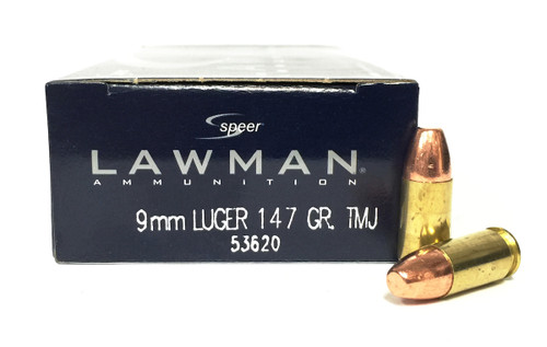 Surplus Ammo | Surplusammo.com 9mm 147 Grain TMJ Speer Lawman Ammunition 53620