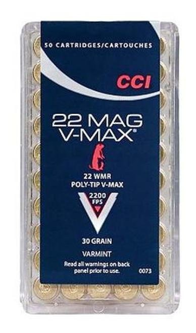 Surplusammo.com 22 Magnum CCI Poly-Tip 30 Grain V-Max (CC0073)