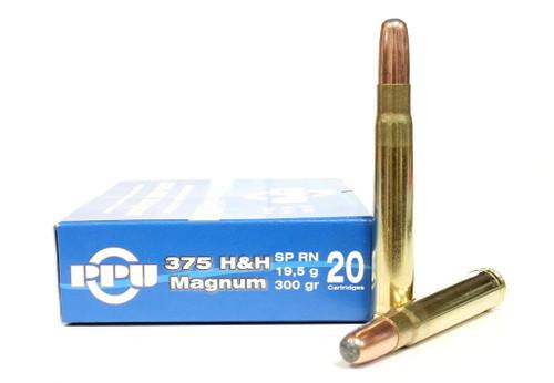 Surplus Ammo, Surplusammo.com .375 H&H Mag 300 Grain SPRN Prvi Partizan