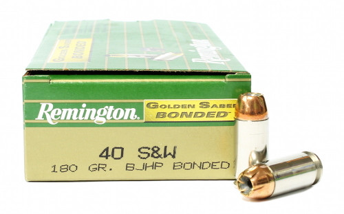 Surplus Ammo | Surplusammo.com 40 S&W 180 Grain BJHP Remington Golden Saber Bonded Ammunition