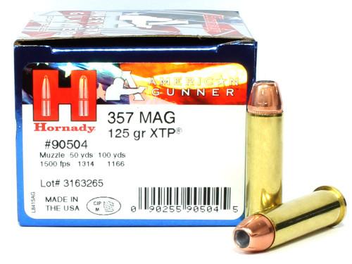 Surplusammo.com | Surplus Ammo 357 Magnum 125 Grain XTP Hornady American Gunner Ammunition