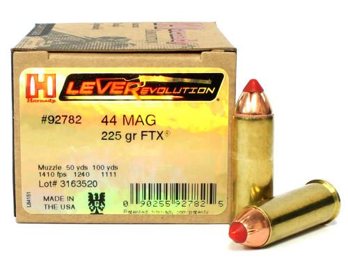 Surplus Ammo   Surplusammo.com 44 Magnum 225 Grain FTX LEVERevolution Hornady Ammunition