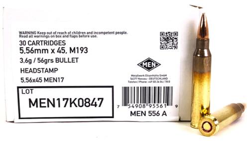 5.56 NATO 56 Grain M193 German MEN MEN556A