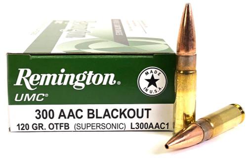 300 AAC Blackout 120 Grain OTFB Remington UMC - 20 Rounds RML300AAC1/21421