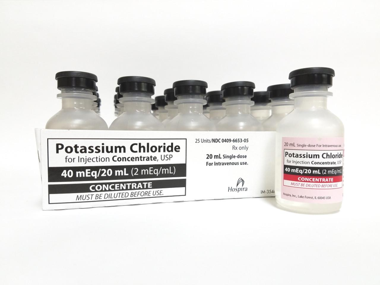 POTASSIUM CHLORIDE, 2 mEq/mL * 20 mL (EACH) - The Torrance