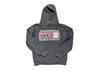 Black Heather Hooded Sweatshirt w/ Maroon and White Logo