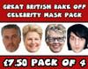 Great British Bake Off Celebrity Face Mask Pack All 4 Judges