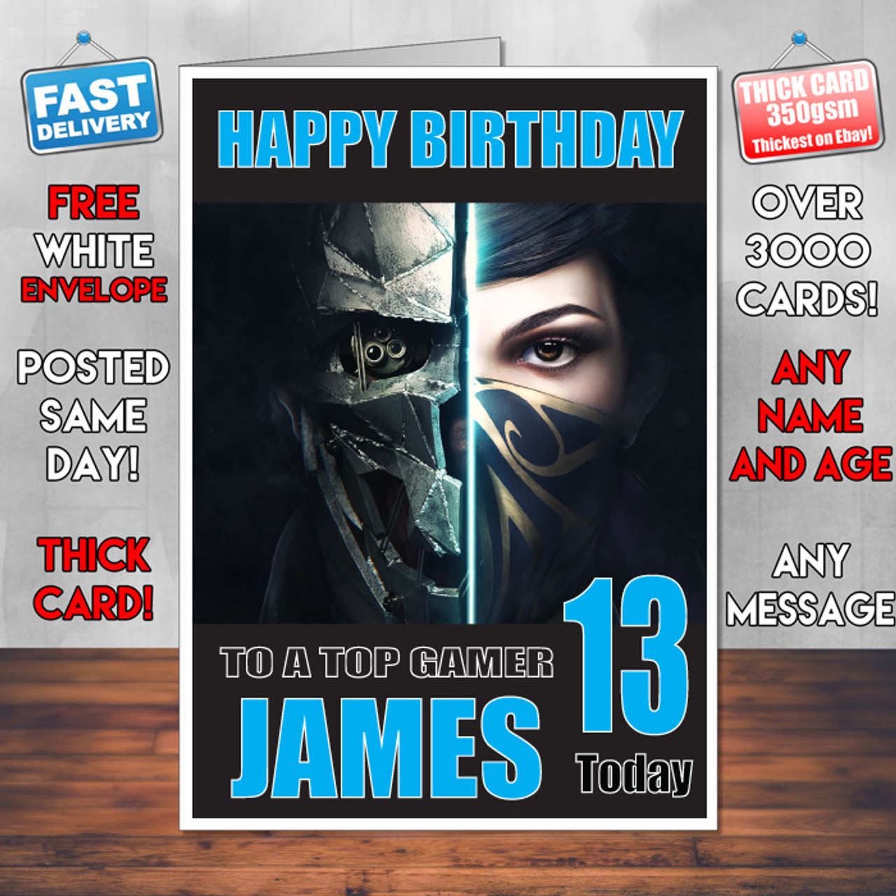 Dishonoured Bm2 Personalised Birthday Card
