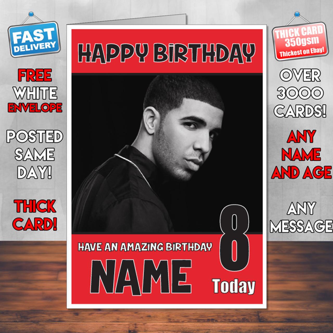 Drake Bm2 Personalised Birthday Card