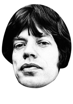 Mick Jagger Celebrity Face Mask
