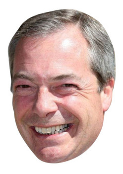 Nigel Farage Celebrity Face Mask