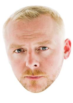 Simon Pegg Celebrity Face Mask