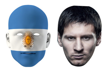 Argentina World Cup Face Mask Pack Messi
