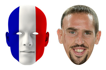 France World Cup Face Mask Pack Ribery