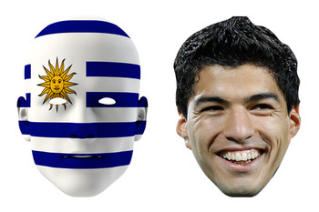 Uruguay World Cup Face Mask Pack Suarez