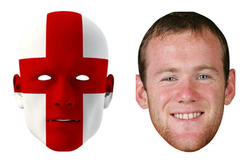 England World Cup Face Mask Pack Rooney