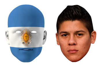 Argentina World Cup Face Mask Pack Rojo