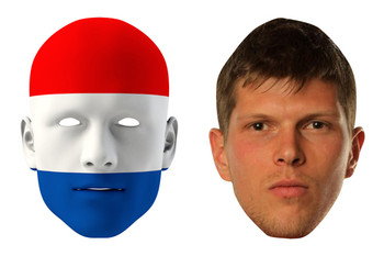 Netherlands World Cup Face Mask Pack Huntelaar