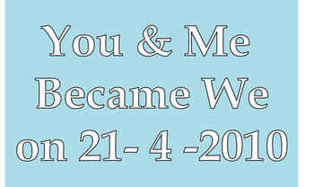 You And Me Became We Birthday Card